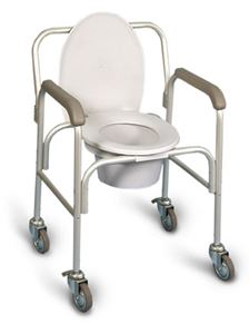 Picture of Deluxe Commode On Casters