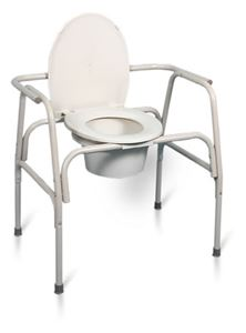 Picture of Extra Wide Heavy Duty Steel Commode