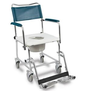 """Picture of Medpro Euro Commode, Drop Arms, 4 Locking Casters, 16"""" Clearance, I.C. Friendly"""