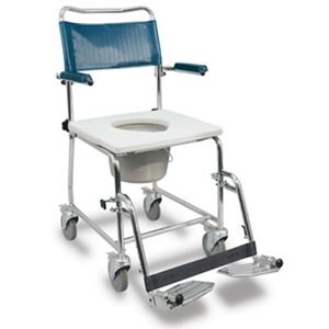 "Picture of Medpro Euro Commode, Lift-Up Arms, 4 Locking Casters, 19.5"" Clearance, I.C. Frien"