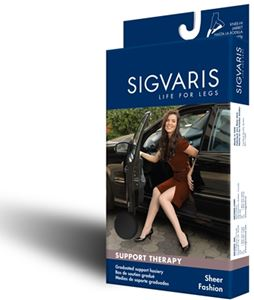 Picture of Sigvaris Sheer Fashion Closed Toe – Women (15-20 Mmhg)-Calf