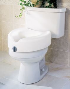 "Picture of Toilet Seat  Raised 5""  Locking  Guardia"