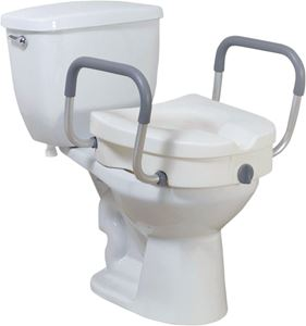 Picture of Elevated Toilet Seat with Tool Free Removable Arms, 1 c/s