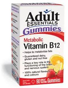 Picture of Adult Essentials Gummies Metabolic Vitamin B12 ** NOT AVAILABLE **