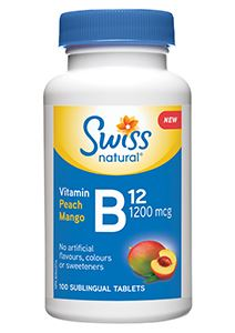 Picture of Vitamin B12 1200Mcg Peach/Mango Tablets Sws