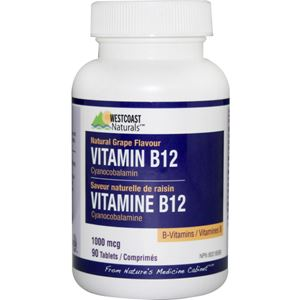 Picture of Vitamin B12 Tablets 1000Mcg West Coast Naturals