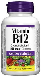 Picture of Vitamin B12 Cyanocobalamine Tablets 250Mcg  Webber