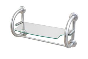 Picture of 2-In- 1 Grab Bar Shelf (Brushed Nickel)
