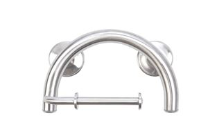 Picture of 2-in-1 Grab Bar and Toilet Paper Holder (Brushed Nickel)
