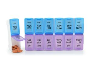 Picture of 7 Day Pill Organizer with AM and PM compartments