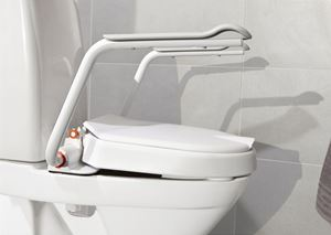 Picture of Hi-Loo Angled Toilet Seat Raiser - Fits Elongated Toilets