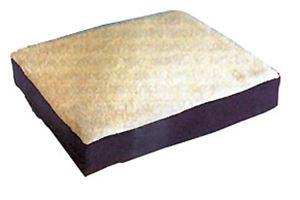 "Picture of Gel Wheelchair Cushion with Fleece Top 16""X18""X3.5"""