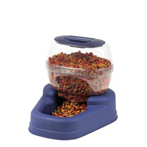 "Picture of Bergan Petite Gourmet Pet Feeder Small Blue 13"" x 11.5"" x 11.25"