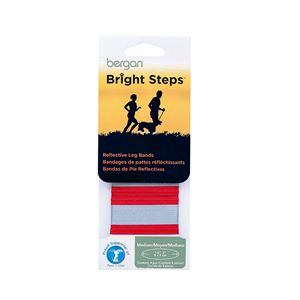 Picture of Bergan Bright Steps Reflective Leg Bands Medium Red