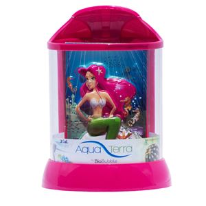 "Picture of BioBubble Aqua Terra 3D Mermaid Background 2 Gallon Pink 9"" x 9"" x 12"" ** NOT AVAILABLE **"