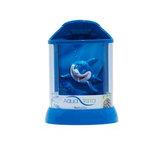 "Picture of BioBubble Aqua Terra 3D Shark Background 1 Gallon Blue 7.5"" x 7.5"" x 10"""