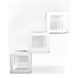 "Picture of BioBubble Deco Cube Habitat 3 pack 0.5 gallons White 5.5"" x 5.5"" x 6"""