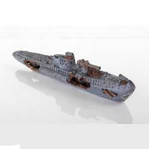 "Picture of BioBubble Decorative Sunken U-Boat 15"" x 3"" x 4"""