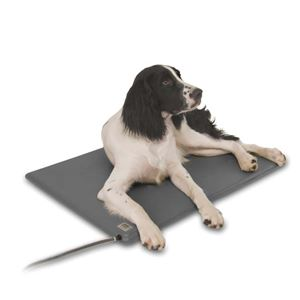"Picture of K&H Pet Products Deluxe Lectro-Kennel Large Gray 11.5"" x 18"" x 1.5"""