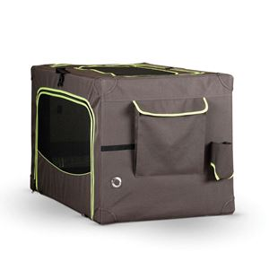 """Picture of K&H Pet Products Classy Go Soft Pet Crate Small Brown/Lime Green 24.02"""" x 17.91"""" x 16.93"""""""