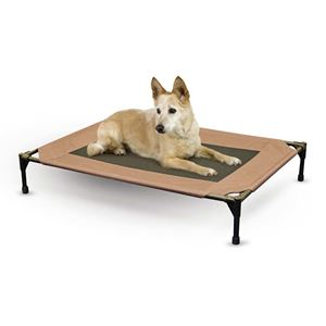 """Picture of K&H Pet Products Original Pet Cot Replacement Cover Large Chocolate 30"""" x 42"""""""