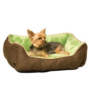 "Picture of K&H Pet Products Lounge Sleeper Self-Warming Pet Bed Mocha / Green 16"" x 20"" x 6"""