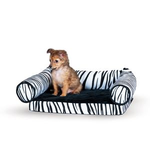 "Picture of K&H Pet Products Lazy Lounger Cat Bed Zebra 14"" x 16"" x 5.5"""