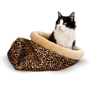 "Picture of K&H Pet Products Self Warming Kitty Sack Zebra 17"" x 17.5"" x 4.5"""
