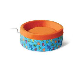 "Picture of K&H Pet Products Thermo-Kitty Bed Large Orange 20"" x 20"" x 6"""