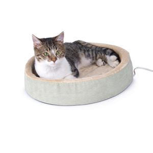 "Picture of K&H Pet Products Thermo-Kitty Cuddle Up Bed Sage 16"" x 16"" x 3"""