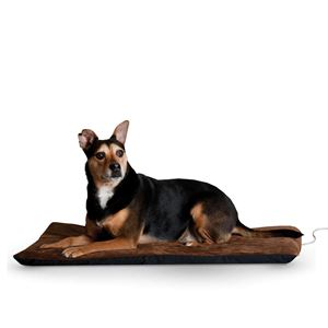 "Picture of K&H Pet Products Ortho Thermo Pet Bed Extra Large Chocolate / Coral 33"" x 43"" x 3"""