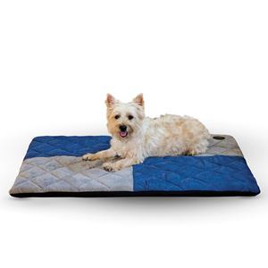 "Picture of K&H Pet Products Quilted Memory Dream Pad 1"" Large Blue / Gray 37"" x 52"" x 1"""