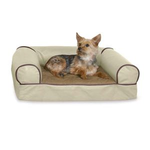 "Picture of K&H Pet Products Memory Foam Cozy Sofa Pet Bed Large White Chocolate 41"" x 30"" x 10""  ** DISCONTINUED **"
