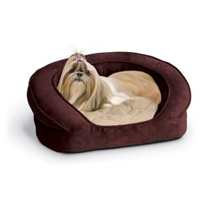 "Picture of K&H Pet Products Deluxe Ortho Bolster Sleeper Pet Bed Small Eggplant 20"" x 16"" x 8"""