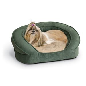 "Picture of K&H Pet Products Deluxe Ortho Bolster Sleeper Pet Bed Medium Green 30"" x 25"" x 9"""