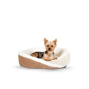 "Picture of K&H Pet Products Huggy Nest Pet Bed Medium Tan / Caramel 28"" x 24"" x 7"""