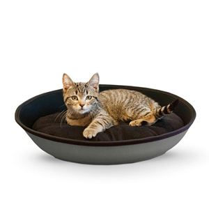 "Picture of K&H Pet Products Mod Sleeper Cat Bed Medium Gray / Black 23"" x 16"""