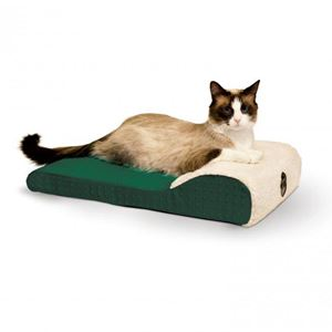 """Picture of K&H Pet Products Ultra Memory Chaise Pet Lounger Green 14""""  x 22"""" x 4"""""""