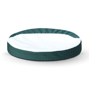 "Picture of K&H Pet Products Ultra Memory Foam Oval Pet Cuddle Nest Green 13"" x 19"" x 4"""