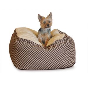 """Picture of K&H Pet Products Deluxe Cuddle Cube Pet Bed Large Brown 30"""" x 30"""" x 12"""""""
