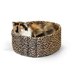 "Picture of K&H Pet Products Lazy Cup Cat Bed Large Leopard 20"" x 20"" x 7"""