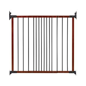 "Picture of Kidco Designer Angle Mount Wall Mounted Safeway Pet Gate Cherry 28"" - 42.5"" x 31"""