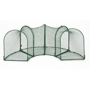 "Picture of Kittywalk Curves (4) Outdoor Cat Enclosure Green 96"" x 18"" x 24"""