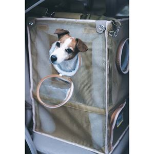"Picture of Kittywalk Cozy Cabin Pet Car Seat Taupe 17"" x 17"" x 24"""