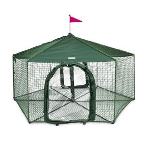 """Picture of Kittywalk Gazebo Outdoor Cat Enclosure Green 70"""" x 70"""" 38"""""""