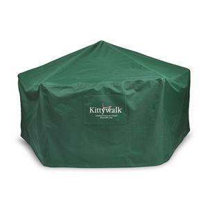 """Picture of Kittywalk Outdoor Protective Cover for Kittywalk Gazebo Green 70"""" x 70"""" 38"""""""