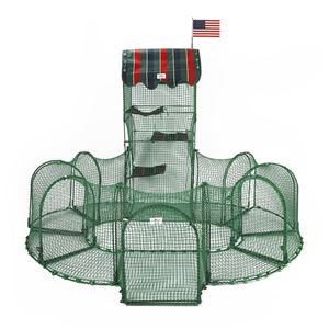 "Picture of Kittywalk Grand Prix Outdoor Cat Enclosure Green 86"" x 70"" x 60"""