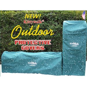 "Picture of Kittywalk Outdoor Protective Cover for Kittywalk Single T-Connect Unit Green 24"" x 24"" x 24"""