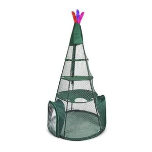 "Picture of Kittywalk Teepee  Outdoor Cat Enclosure Green 48"" x 48"" x 72"""