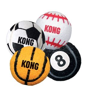 "Picture of Kong Sport Balls Dog Toy 2 pack Medium Assorted Sports 2.5"" x 2.5"" x 2.5"""